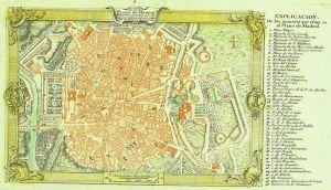 Plano de Madrid de 1762. Biblioteca Nacional de España